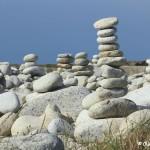 Sculptures de galets, l'Ile Grande, Côte de Granit Rose