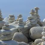 Sculptures de galets, l'Ile Grande, Côte de Granit Rose (7459)