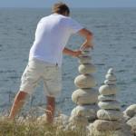 Sculptures de galets, l'Ile Grande, Côte de Granit Rose (7464)