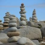 Sculptures de galets, l'Ile Grande, Côte de Granit Rose (7473)