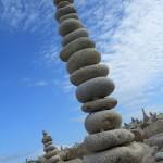 Sculptures de galets, l'Ile Grande, Côte de Granit Rose (7482)