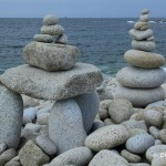 Sculptures de galets, l'Ile Grande, Côte de Granit Rose (7501)