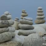 Sculptures de galets, l'Ile Grande, Côte de Granit Rose (7505)